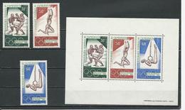 CAMEROUN Scott C107-C109, C109a Yvert PA118-PA120, BF4 (3+bloc) ** Cote 7,50$ 1968 - Cameroun (1960-...)