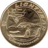 77 DISNEYLAND PARIS CARS LIGHTVEAR  DISNEY MÉDAILLE MONNAIE DE PARIS 2018 JETON TOKEN MEDALS COINS - 2012