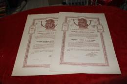 Lot De 2 Citations Du 116ème RAL Vierge Signé Commandant Mialin - 1914-18