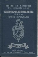 Carte De La Fédération Nationale Des Retraités De La Gendarmerie De Tarbes - Old Paper