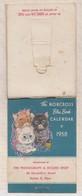 8AK855 PETIT CALENDRIER ILLUSTRATEUR 1958 RECORD SHOP BOSTON - Calendriers