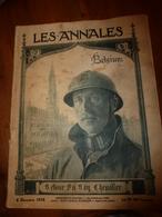 LES ANNALES Du 8 Dec 1918:La Belgique Héroïque;La Zwanse;Ecrivains Belges;Louvain;Albert Et Elisabeth;etc - Journaux - Quotidiens