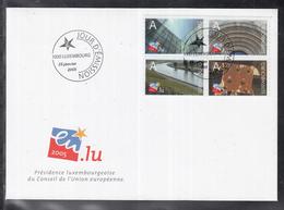 MÜ 1 ) Luxemburg Luxembourg FDC 2005 - EU: Vorsitz Luxemburg  // Free Shipping To - FDC