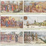2 Séries De 6 Chromos(1 à 12) Liebig TENTATIVE D'EXPANSION COLONIALE BELGE (scan Verso) - Liebig