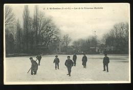 95 Val D'Oise St Gratien 6 Lac De La Princesse Mathilde Patineurs Animée Vve Dasnois - Saint Gratien