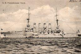 Bateau De Guerre Allemand   S.M.PANZERKREUSER YORCK - Boten