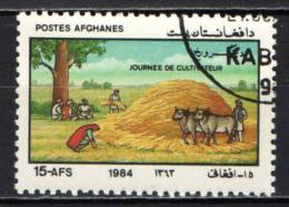 AFGHANISTAN - 1984 - GIORNATA DEL COLTIVATORE - USATO - Afghanistan
