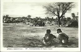 """608 """" AFRICA ORIENTALE ACCAMPAMENTO DI PASTORI HABAB"""" CART ANIM NON SPED. - Cartoline"""