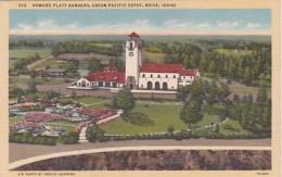 Idaho Boise Union Pacific Depot And Howard Platt Gardens Curteich - Boise