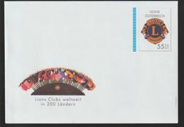 M 1007) Österreich Ganzsache *: LIONS Club International In 200 Ländern - Entiers Postaux