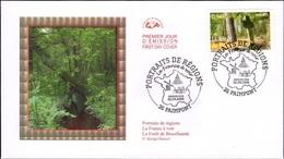 FRANCE Poste 3944 FDC Premier Jour Portait De Régions : La Forêt De Brocéliande Légende Roi Arthur Paimpont - FDC