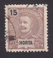 Horta, Scott #16, Used, King Carlos, Issued 1897 - Horta