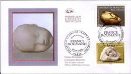 FRANCE Poste 3963 Et 3964 FDC Premier Jour Oeuvres Constantin Brancusi : Muse Endormie Et Sommeil Sculptures - FDC