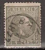 Ned Indie 1870 Koning Willem III. 1 Cent Type 1, NVPH 3 Gestempeld. - Indes Néerlandaises