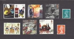 Great Britain Grossbritannien  Lot (*) 9 Stamps Without Postmark And Gum. - 1952-.... (Elisabetta II)