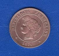 5  Cents  1871 A - Frankreich