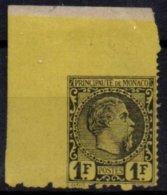 MONACO - 1 F. Charles III Non Dentelé Partiel FAUX De Bonne Facture - Ungebraucht