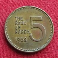 Korea South 5 Won 1968 KM# 5 Corea Coreia Do Sul Koree Coree - Korea, South