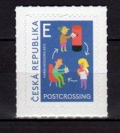 2015 Czech Rep - Postcrossing  - 1 V S.adh. MI 857 MNH** (üü18) - Tschechische Republik