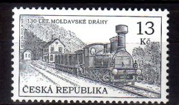 2015 Czech Rep.  130 Years Of Moldauer Railway - Steam Locim Bahnhof Eichwald (Dubí)   -MNH** MI  847 (üü18) - Tschechische Republik