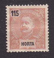 Horta, Scott #28, Mint Hinged, King Carlos, Issued 1897 - Horta