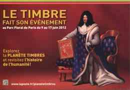 """Entier Postal De 2012 Sur CP Avec Timbre Et Illust.  """"LE TIMBRE Fait Son Evènement"""" - Postwaardestukken"""
