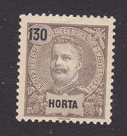 Horta, Scott #30, Mint Hinged, King Carlos, Issued 1897 - Horta