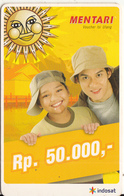 INDONESIA - Children, Mentari By Indosat Prepaid Card Rp 50000, Exp.date 31/12/07, Used - Indonesia