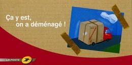 """PAP De 2006 Sur CP De Changement D'Adresse Avec  Timbre """"La Lettre"""" Et Illust. """"Ca Y Est, On A Déménagé !"""" - Postwaardestukken"""