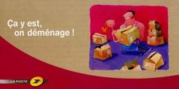 """PAP De 2006 Sur CP De Changement D'Adresse Avec  Timbre """"La Lettre"""" Et Illust. """"Ca Y Est, On Déménage !"""" - Postwaardestukken"""