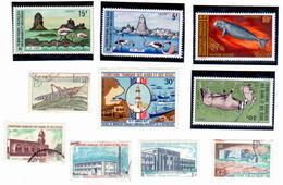 Afars Et Issas - Lot De 10 Timbres ( 5 Neufs / 5 Oblitérés ) - Afars Et Issas (1967-1977)