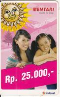 INDONESIA - Girls, Mentari By Indosat Prepaid Card Rp 25000, Exp.date 31/12/07, Used - Indonesia