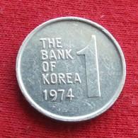 Korea South 1 Won 1974 KM# 4a Corea Coreia Do Sul Koree Coree - Korea, South