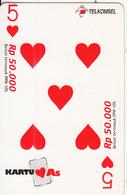 INDONESIA - 5 Mug, Telkomsel Prepaid Card Rp 50000, Exp.date 30/06/05, Used - Indonesia