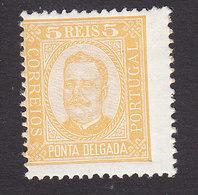 Ponta Delgada, Scott #1, Mint Hinged, King Carlos, Issued 1892 - Ponta Delgada