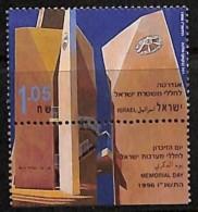 D- Israël 1996 - N° 1313, Monument Aux Morts De La Police Israélienne , Avec Tabs - Israel