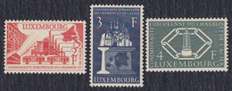 Luxembourg 1956 European Coal And Steel Community Anniversary, MNH (**) Michel 552-554 - Luxembourg