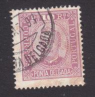 Ponta Delgada, Scott #2, Used, King Carlos, Issued 1892 - Ponta Delgada