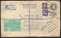 M) 1967 GREAT BRITAIN, REGISTERED, POSTAL STATIONARY, QUEEN ELIZABETH, AIR MAIL, CIRCULATED COVER FROM GREAT BRITAIN TO - Great Britain (former Colonies & Protectorates)