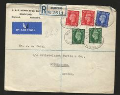 M) 1937 GREAT BRITAIN, REGISTERED, KING GEORGE VI, AIR MAIL, CIRCULATED COVER FROM GRAET BRITAIN TO SWEDEN. - Great Britain (former Colonies & Protectorates)
