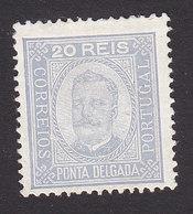 Ponta Delgada, Scott #4, Mint Hinged, King Carlos, Issued 1892 - Ponta Delgada