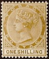 Tobago,  Scott 2018 # 23,  Issued 1874,  Single,  MLH,  Cat $ 4.50, - Trinidad & Tobago (1962-...)