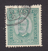 Ponta Delgada, Scott #5d, Used, King Carlos, Issued 1892 - Ponta Delgada