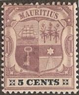Mauritius,  Scott 2018 # 102,  Issued 1895,  Single,  MLH,  Cat $ 3.00 - Mauritius (...-1967)