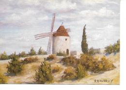 PASTEL AQUARELLE / MOULIN A. DAUDET / PASTEL De F. BOURELLY / CPM TOILEE NEUVE N° 84011 La Palette D'art/ TTBE - Pittura & Quadri