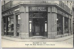 Grenoble Pharmacie Maison   A PUY   Fondée En 1812   Angle Des  Rues Barnave   Et     P Duclot - Grenoble
