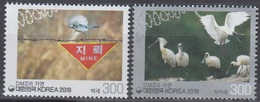 South Korea KPCC2527-8 Nature In DMZ, Demilitarized Zone, Great Tit, Black-faced Spoonbill, Environment Protection - Corée Du Sud