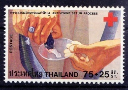 Thailand 1980 MNH, Snake Venom For Making Medicine, Red Cross - Red Cross