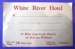 HOTEL MOTEL PENSION WHITE RIVER MPUMALANGA SOUTH AFRICA STICKER DECAL LUGGAGE LABEL ETIQUETTE AUFKLEBER - Etiketten Van Hotels