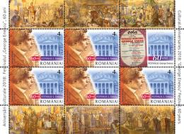 """Romania 2018 / CULTURAL ANNIVERSARIES 2018 """"GEORGE ENESCU"""" PHILHARMONIC BUCHAREST, 150 YEARS ROMANIAN ATHENAEUM, - 1948-.... Républiques"""